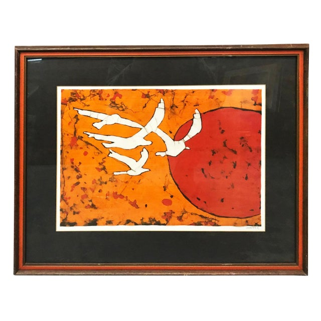 Late 20th Century Late 20th Century Abstract Bird Lithograph Print For Sale - Image 5 of 5