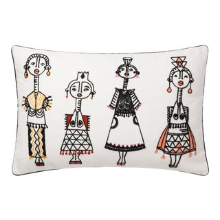 """Justina Blakeney X Loloi White / Multi 13"""" X 21"""" Cover with Down Pillow For Sale"""