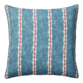 OKA Aldus Pillow in Blue/Persian Red