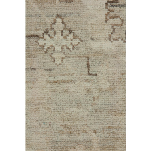 """Traditional Oushak, Hand Knotted Runner - 3'4"""" X 9'9"""" For Sale - Image 3 of 3"""