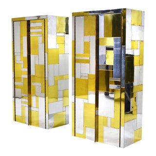 Pair of Paul Evans Cityscape Wall-Mounted Cabinets For Sale