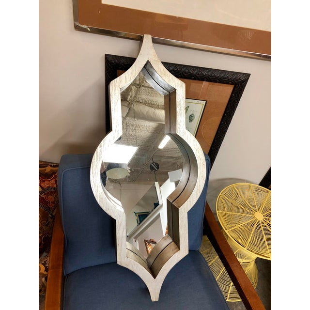 Contemporary Mercana Silver Geometric Mirror For Sale In Charleston - Image 6 of 6