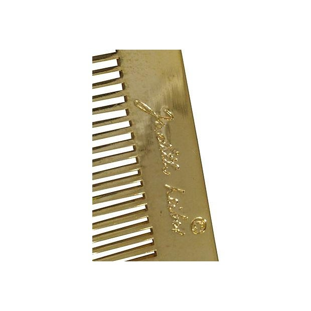 Judith Leiber Brass Comb with Tassle For Sale - Image 5 of 5