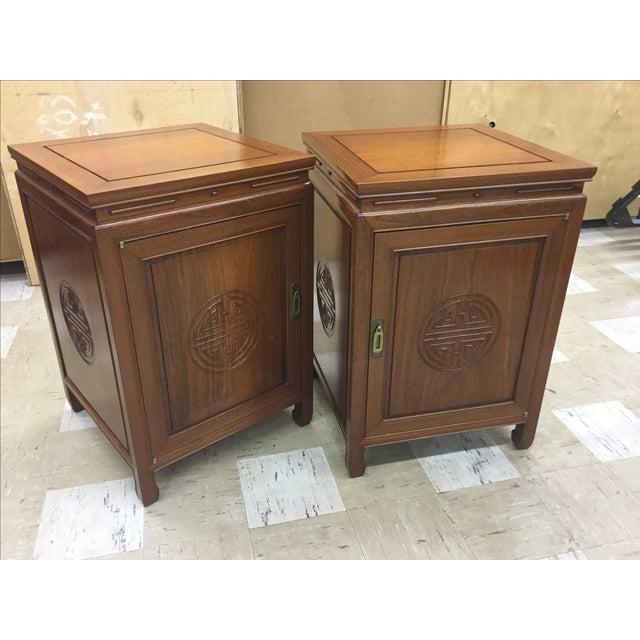 George Zee Side Tables Speaker Cabinets - Pair - Image 2 of 5