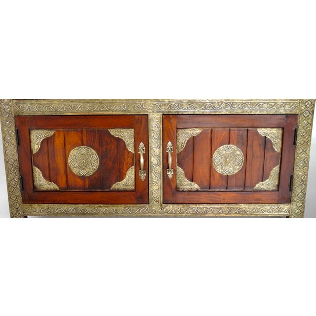 Handmade in India Brass Inlaid Settee With Storage For Sale In New York - Image 6 of 6