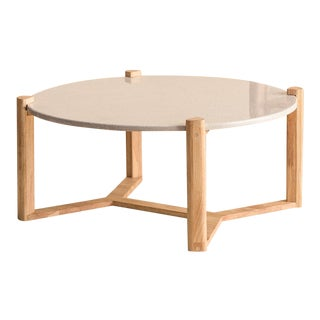 Modern Ebb and Flow May-Round Coffee Table For Sale