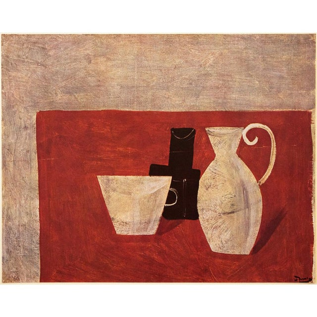"""French 1947 André Derain Original Period """"Still Life"""" Lithograph For Sale - Image 3 of 8"""