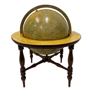 Vintage Merzbach and Falk Terrestrial Globe on Stand For Sale
