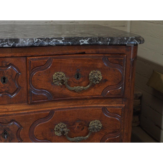 Early 18th Century Louis XV Period and Signed Walnut Commode For Sale - Image 5 of 9