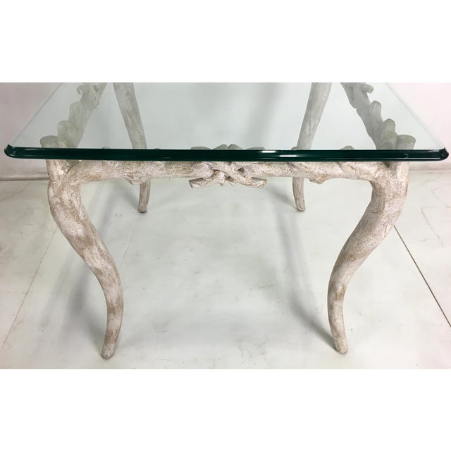 Wonderful Concrete Faux Bois Garden Table For Sale - Image 4 of 5