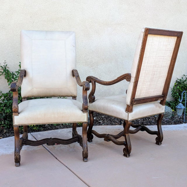 Louis XIV Hand Carved Antique Chairs - a Pair - Image 10 of 10 - Louis XIV Hand Carved Antique Chairs - A Pair Chairish