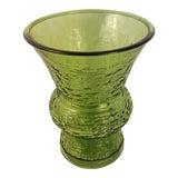 Image of Anchor Hocking Glass Soreno Avocado Vase For Sale