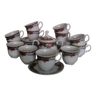 Mid-Century French Limoges Demitasse Set For Sale