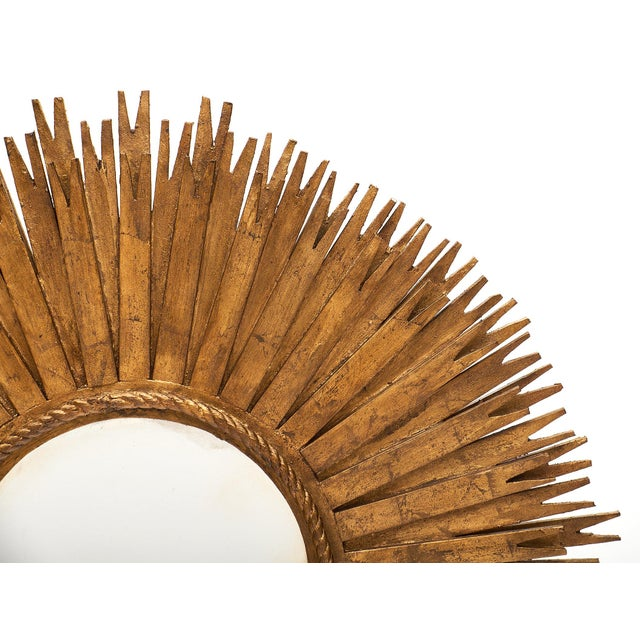 1960s Large Sunburst Mirror For Sale In Austin - Image 6 of 10