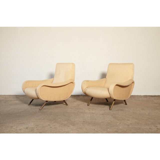 Arflex Original Marco Zanuso Lady Chairs, Arflex, Italy, 1960s for Reupholstery For Sale - Image 4 of 10