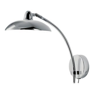 Saucer Wall Light in Polished Chrome For Sale