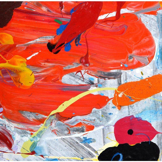 Orange 1980s Abstract Painting by John Seery For Sale - Image 8 of 10