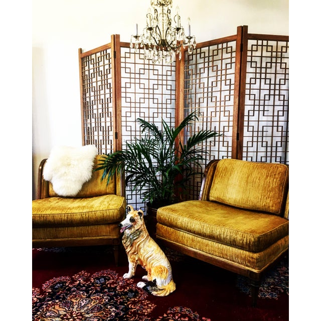 Mid-Century Teak 4 Panel Screen For Sale - Image 6 of 10