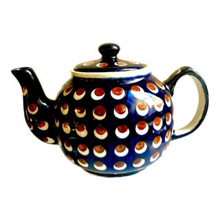 Vintage Ceramica Boleslawiec Pottery Teapot