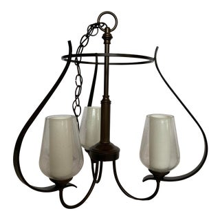 Hubbardton Forge Flora 3 Arm Chandeliers - 2 Available For Sale