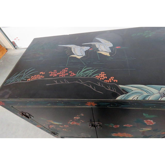 Mid 20th Century Asian Paint Decorated Cabinet For Sale - Image 5 of 11