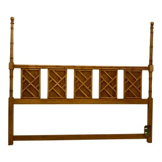 King Size Faux Bamboo Headboard For Sale