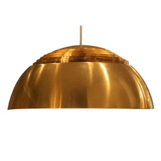 Arne Jacobsen for Louis Poulsen, Large Aj Brass Pendant, Danish, 1960 For Sale