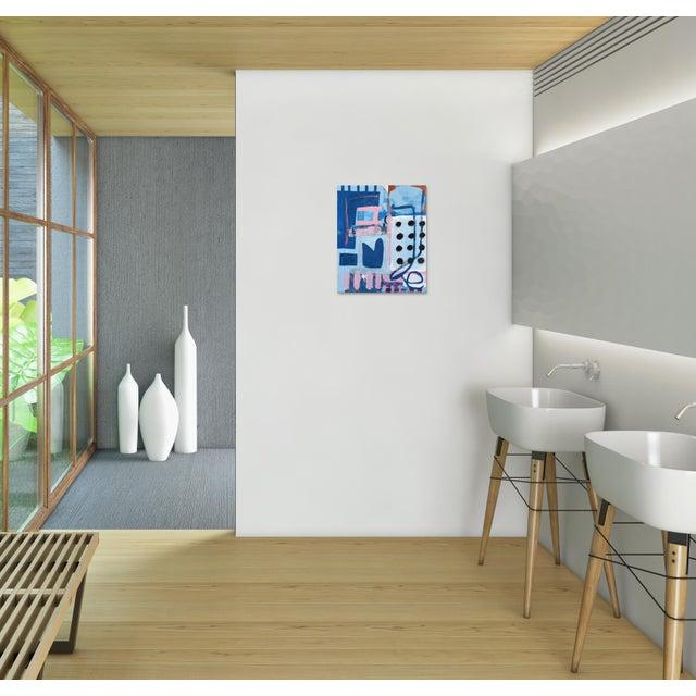 "Blue ""Baba's Never Ending Dentist Appointments"" Original Artwork by Sarah Svetlana For Sale - Image 8 of 10"