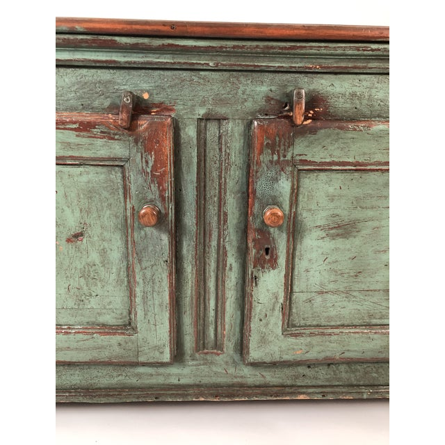 French Country Canadian Green Painted Side Cabinet For Sale - Image 10 of 13