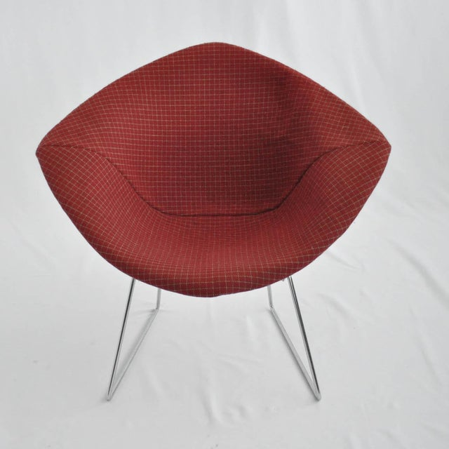 Harry Bertoia Diamond Dining Chair With Cover - Image 2 of 6