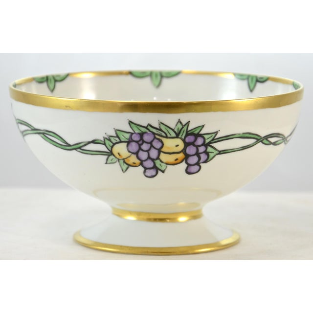 Metal Haviland Hand Painted Bowl For Sale - Image 7 of 7