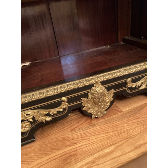 Ebony French Boulle Style Display Cabinet For Sale - Image 8 of 11