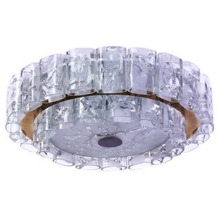 Mid-Century Modernist Doria Flush Mount For Sale