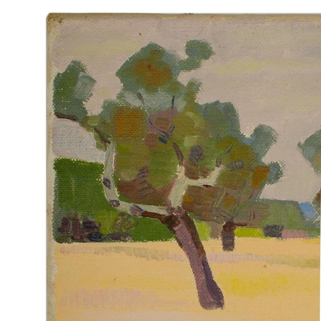 "19th Century 19th Century ""Spring Trees"" Expressionist Landscape Oil Painting by Ernest Yarrow-Jones For Sale - Image 5 of 8"