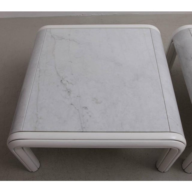 Rare Pair of Marble Coffee or Sofa Tables by Gae Aulenti for Knoll, Italy, 1970s For Sale - Image 6 of 7