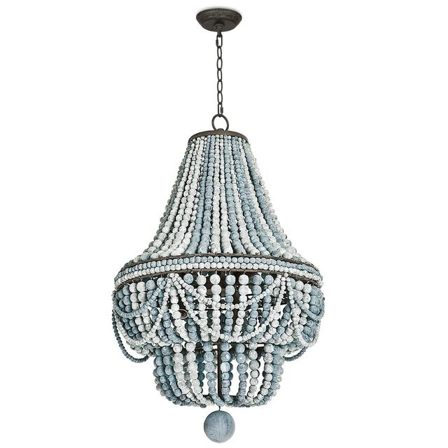 2020s Malibu Chandelier (Weathered Blue) For Sale - Image 5 of 5