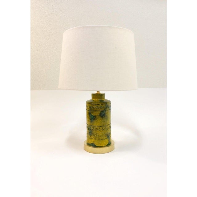 Italian 1970s Italian Ceramic Table Lamps by Bitossi - a Pair For Sale - Image 3 of 9