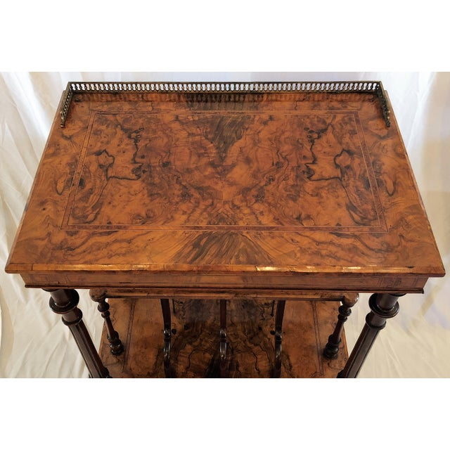 Late 19th Century Antique English Walnut Canterbury and Music Stand, Circa 1870-1880. For Sale - Image 5 of 7