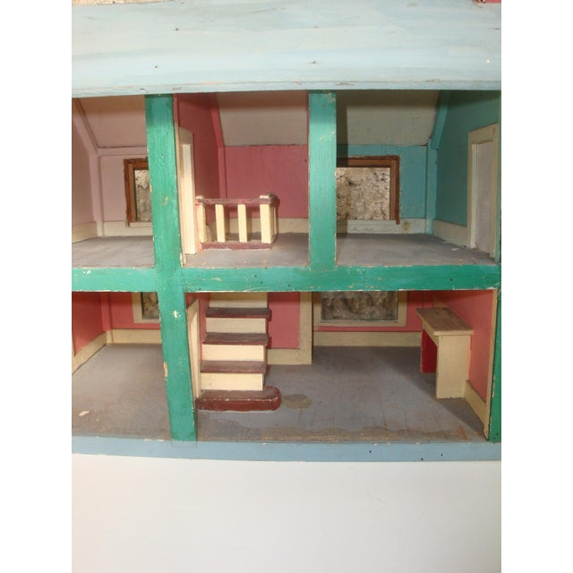1920s Handmade American Folk Art House Maquette For Sale In Richmond - Image 6 of 9
