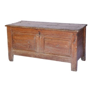 French Pine Trunk, circa 1880 For Sale