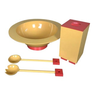 1990s Postmodern Memphis Serving Pieces by Michael Graves for Alessi - Set of 4 For Sale