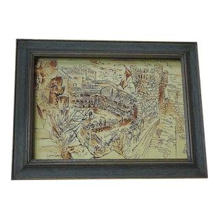 D. Fredenthal Original Signed Illustration For Sale