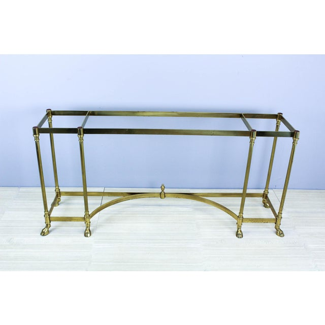Italian Brass Hoof Foot Console For Sale - Image 10 of 10