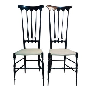 PAIR OF CHIAVARI CHAIRS For Sale