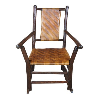 Rustic Hickory Furniture Company No. 21 Rocker Adirondak Lodge Rocking Chair For Sale
