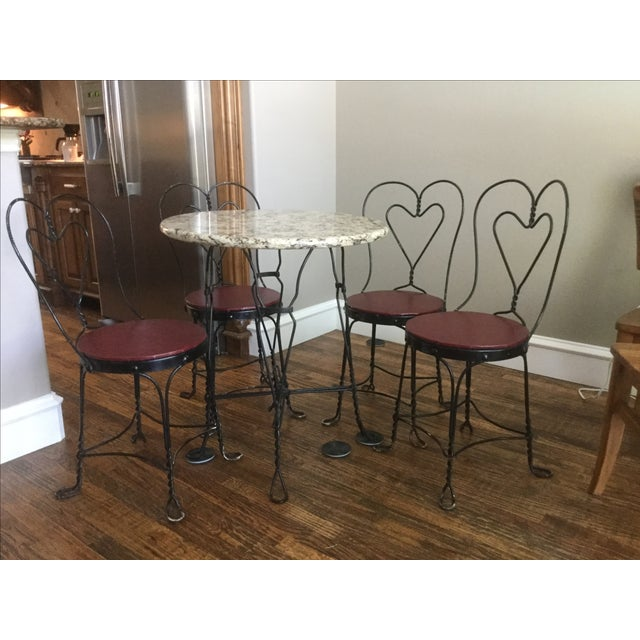 Vintage Ice Cream Parlor Dining Set - Image 2 of 7