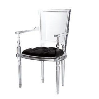 Global Views Marilyn Acrylic Arm Chair For Sale