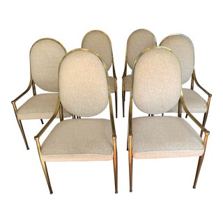 Mastercraft Brass Dining Chairs - Set of 6 For Sale