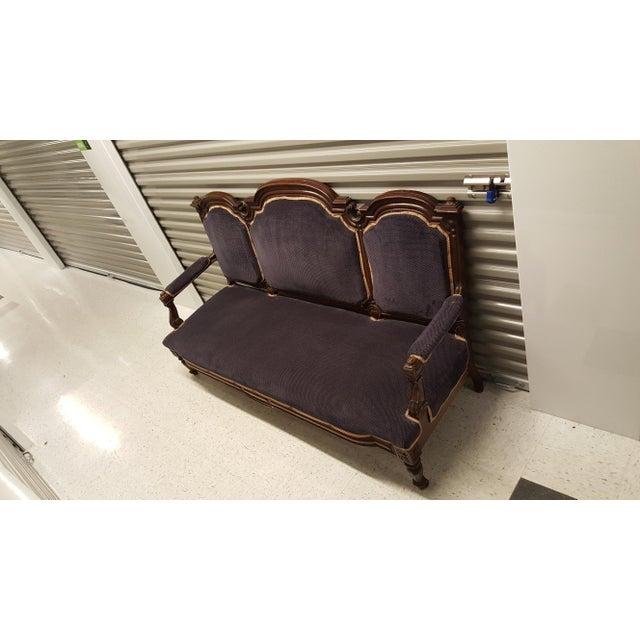 Antique Eastlake Design Settee - Image 3 of 8