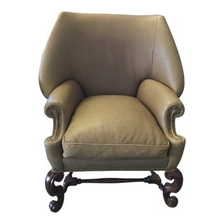 Ferguson Copeland Leather Chair For Sale